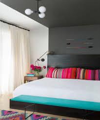 bedroom dark wood headboard with wooden nightstand also white