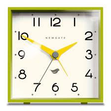 newgate clocks the cubic in lime green cult furniture