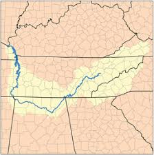 cumberland river map tennessee river
