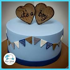 vintage hearts baby shower cake blue sheep bake shop