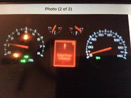 gmc acadia check engine light 2011 gmc terrain engine powering down with stability control light