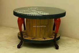 Cable Reel Table by Upcycled Cable Reel Ideas Upcycle Art