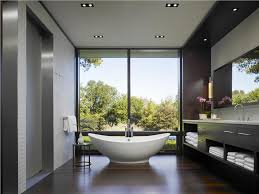 relaxing contemporary master bathroom by jessica lagrange