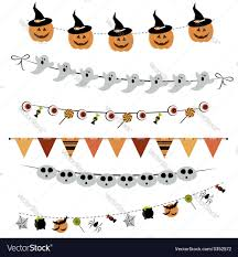 halloween bunting and garland royalty free vector image