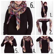 look collections tartan plaid blanket scarf in tan