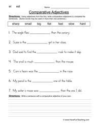comparing adjectives worksheet 2 worksheets