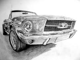 old cars drawings ford mustang before coloring by dreamdrawing on deviantart