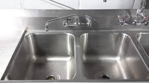 used 3 compartment stainless steel sink regency 16 gauge drop in stainless steel sink with 2 8 faucets 3