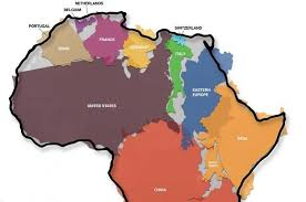 africa map real size this graphic of africa s actual size will your mind