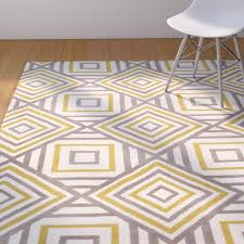 Gray And Yellow Rugs Langley Street Noam Hand Tufted Beige Gray Yellow Area Rug