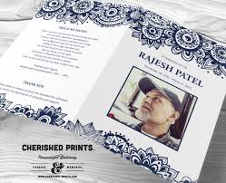 Where To Print Funeral Programs Block Print Celebration Of Life Program For A Funeral And Memorial