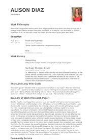Resume Community Service Example by Sample Chronological Resume Template Format Babysitting Cashier