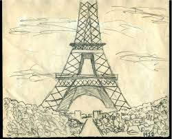 sketch of the eiffel tower by jstucker12 on deviantart