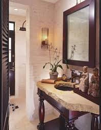 earth tone bathroom designs tropical powder room with shower by sennikoff architects