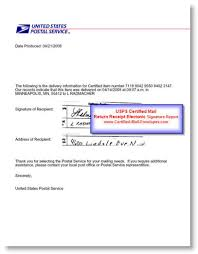 electronic signature usps certified mail