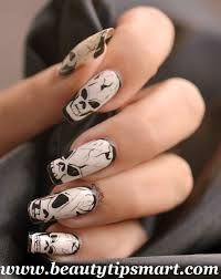 easy scary halloween nail art designs 2017 ghost step by step