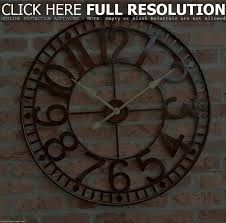 large open face wall clock wall decoration ideas