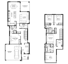 View House Plans by Double Storey 4 Bedroom House Designs Perth Apg Homes