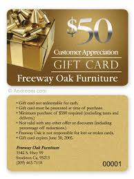 gift card discounts gift card design sle freeway oak furniture