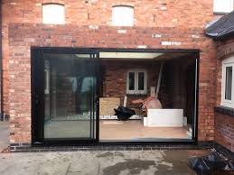 Free Patio Doors Black Smart Architectural Aluminium Track Sliding Patio