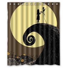 Halloween Material Fabric Halloween Shower Curtains Fun And Creepy Designs