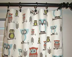 Owl Curtains For Nursery Woodland Curtains Etsy