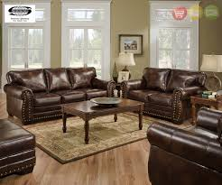 encore vintage traditional brown leather sofa set w bombe arms