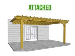 Attached Pergola Plans by The Big Kahuna Pergola Pergola Depot Wood Pergola Kit