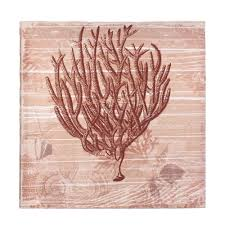 seaside coral canvas wall art wholesale at koehler home decor