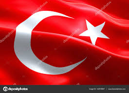 Islam Flag Flag Of Turkey Strip Waving Texture Fabric Background National