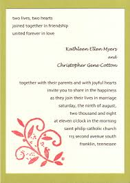 sle of wedding programs ceremony marriage invitation letter to office colleagues yaseen for