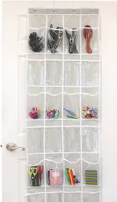 hanging shoe organizer 24 pockets simplehouseware crystal clear over the door hanging
