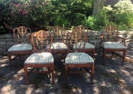 sheraton shield back style dining chairs c1880