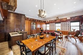 Kitchen Paneling Greenwich Village Duplex Loft Bedecked In Tasteful Wood Paneling
