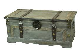rustic grey coffee table rustic gray large wooden storage trunk vintiquewise