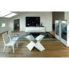 Contemporary Italian Dining Table Rossetto Sapphire Glass Dining Table Hayneedle