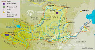 rivers in china map yellow river map huanghe map china yellow river maps