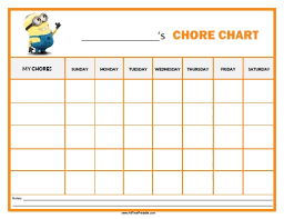 10 best images of free printable chore chart avengers minion