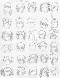different types of easy hair style steps anime hairstyles ii