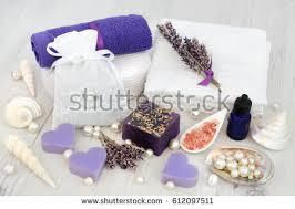 Lavender Bathroom Accessories by Orchid Flower Arrangement Spa Bathroom Accessories Stock Photo