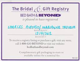 bed bath bridal registry bed bath and beyond bridal registry 1 bed bath and beyond wedding
