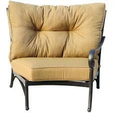 Darlee Santa Monica by Darlee Santa Anita Cast Aluminum Patio Sectional Chair Right