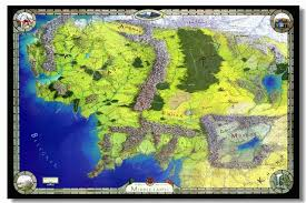 rings world images Custom canvas wall decals the lord of the rings map wallpaper jpg