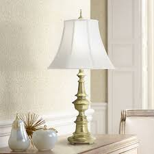 Brass Table Lamps Stiffel Satin Brass Table Lamp 2x838 Lamps Plus