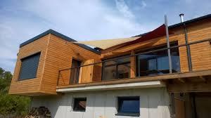 terrasse en bois suspendue maison ossature bois avec terrasse suspendue à rochefort en