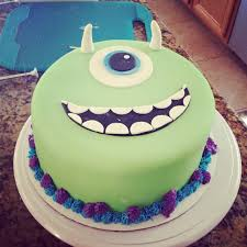 monsters inc mike wazowski cake decorations by kellyscookiedesigns