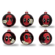 official marvel deadpool baubles tree decorations