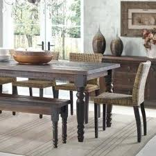 distressed white dining room table ideas grey set with bench