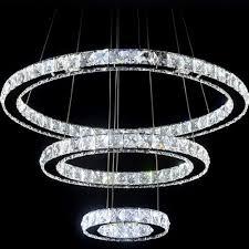 3 rings crystal led chandelier light fixture crystal light lustre