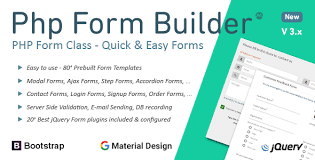 php form builder class 20 jquery plugins included
